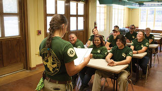Youth corps rehabilitate historic structures