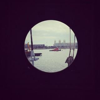 View from porthole on Nantucket Lightship/LV-112