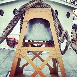 Bell aboard the Nantucket Lightship/LV-112