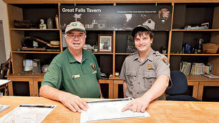 National Park Service Employees Explain Map