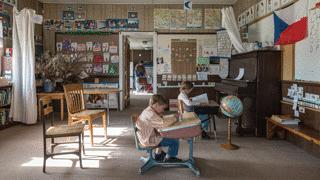Montana Schoolhouses Tallow Creek School Interior