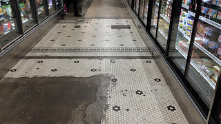 Heinen's floors are part historic tile, part concrete