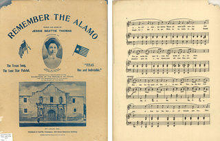Remember the Alamo Sheet Music (De Zavala on cover)
