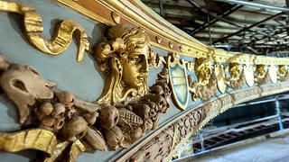 Close up image of gilding and plaster work at the Lyric