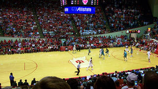 The interior of Assembly Hall during a game