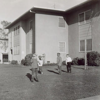Children playing at Lincoln Place circa 1958