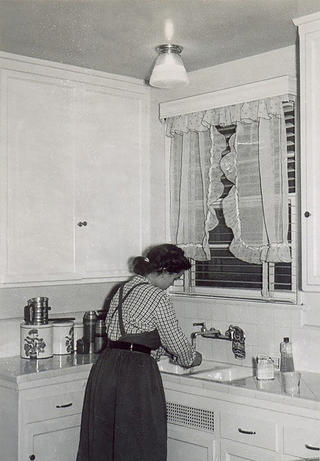 A Lincoln Place kitchen in the 1950s