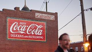 A Coca-Cola ghost sign