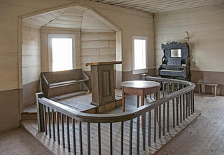 Interior of Shiloh Methodist Church