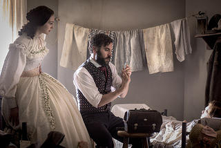 "Emma Green (Hannah James) and Jedediah Foster (Josh Radnor) in ""Mercy Street"""