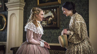 "Alice Green (AnnaSophia Robb) and Emma Green (Hannah James) in ""Mercy Street"""