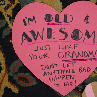 """Old and Awesome"" Heart Bomb Valentine"