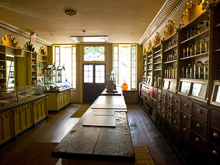 Interior shot of the Stabler Leadbeater Apothecary