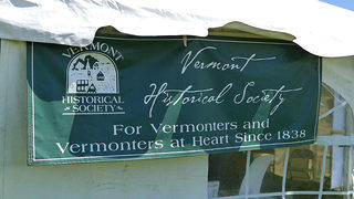 The Vermont Historical Society's tent at an event.