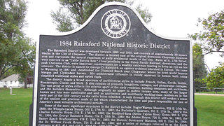 Sign of the Rainsford Historic District.