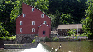 A shot of the famous Red Mill in the Clinton Historic District in New Jersey.