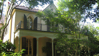 A shot of a mansion in New Orleans' Garden District, considered to be a model historic district.