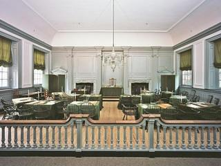 Interior of the Assembly Room in Independence Hall