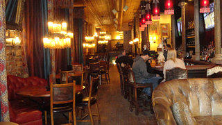 An interior shot of Crawford's Bar and Grill.