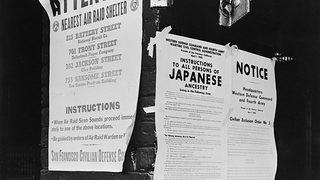 A shot of Executive Order 9066, which began Japanese-American internment.