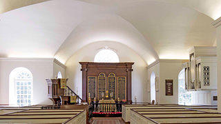 A shot of the interior of St. Andrew's Old Episcopal Church.