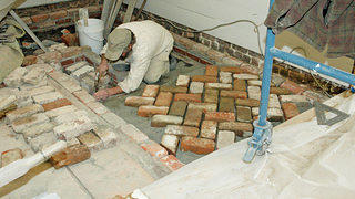 Preserving and renovating the floor at St. Andrew's Old Episcopal Church