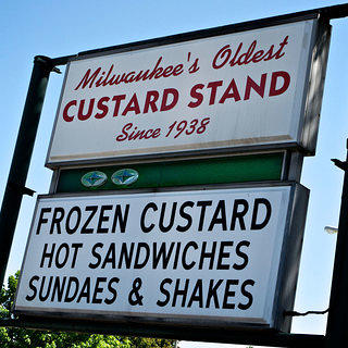 A shot of the oldest custard stand in Milwaukee.