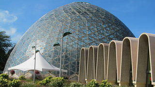 The world's first conoidal domes at Mitchell Park Conservatory in Milwaukee.