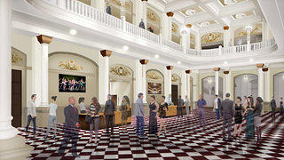 A rendering of the lobby of Cincinnati's Music Hall