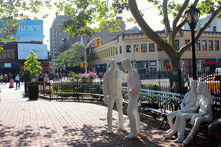 Christopher Park, across the street from the Stonewall Inn.