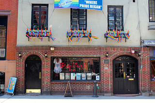 The exterior of the Stonewall Inn in New York's West Village.