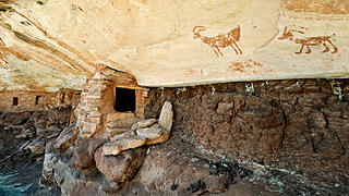 Site with sheep pictographs.