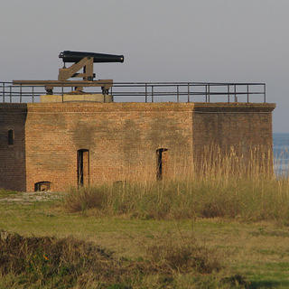 View of the ramparts at historic Fort Gaines