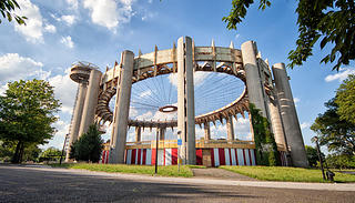 New York State Pavilion designed by Philip Johnson for the 1964-65 New York World's Fair.