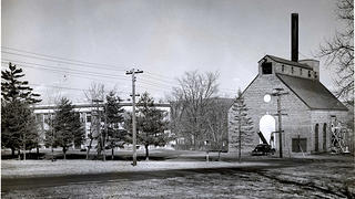 Exterior of the steam plant in 1933