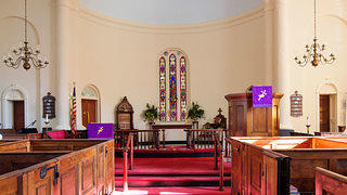 An interior shot of Prince George Winyah Episcopal Church.