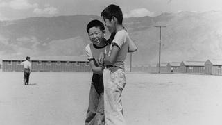 Young boys playing at Manzanar.