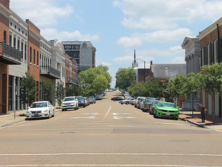 View of downtown Natchez