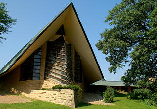 Frank Lloyd Wright's First Unitarian Meeting House in Madison, Wisconsin