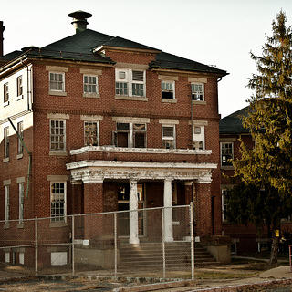 View of the main building at Crownsville State Hospital