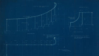 Blueprint of Naumkeag plans