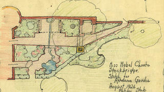 Drawing of Naumkeag gardens