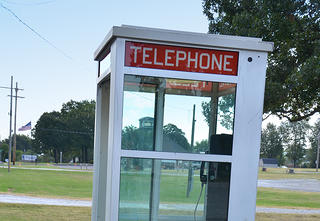 The Airlight phone booth in Prairie Grove, Arkansas