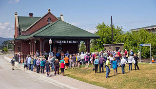 Grand reopening of the Sandpoint Amtrak Depot in Sandpoint, Idaho