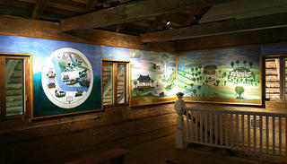 Completed installation of the African House murals