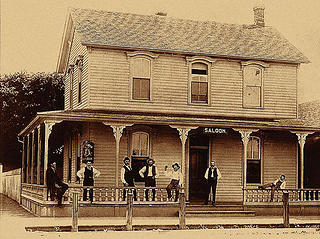 Historic image of Glur's Tavern in Columbus, Nebraska