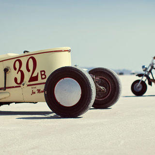 Race Cars at Bonneville Salt Flats