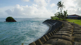 American Samoa seawall. Photo by Eli Keene
