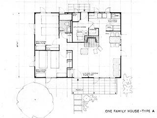 Prefab house blueprint