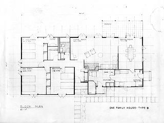 Blueprint of Prefab house